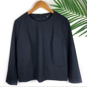 Ann Taylor Navy Blue Blouse Size 6